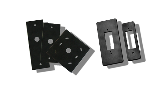 Installation and insulation plates for RFID readers