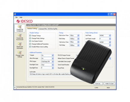 RFID reader encoder software programs 7 C 2 0 MIFARE readers