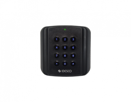 Access control reader with tactile keypad