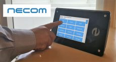 Time and attendance management with an RFID touch screen