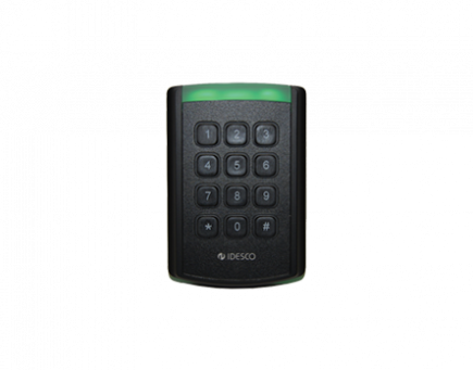 RFID reader with tactile keypad