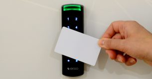 Access control reader and card